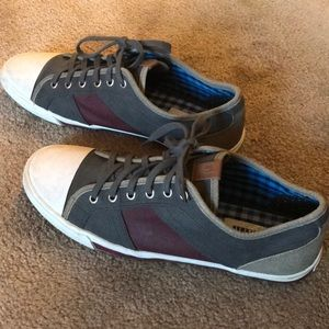 Ben Sherman lace-up sneakers, gray, size 9.5